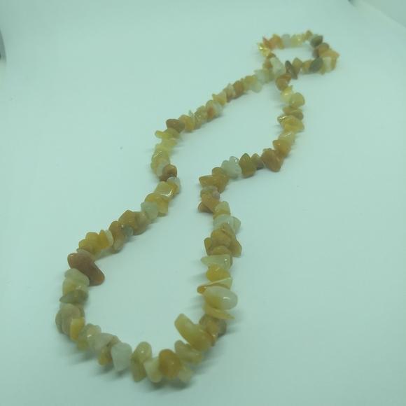 Jewelry - YELLOW JADE NECKLACE - Gemstone Fashion Jewelry